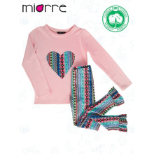Miorre OEM New 2017 Season Kid's Girl Fashionable Color Elegant Patterned Pajamas Set