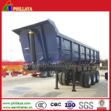 Remorque semi-videuse hydraulique de camion de basculement en forme de U