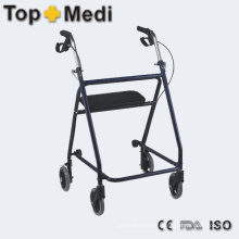Steel Walking Aid Walker with Hand Brake for Old People