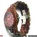 Высокое качество Красного сандалового дерева и черного дерева Кварцевые часы Hl01