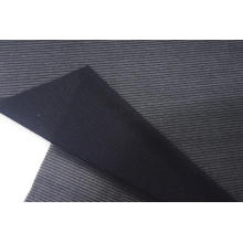 Tissu en maille à rayures noires en nylon et élasthanne métallisé