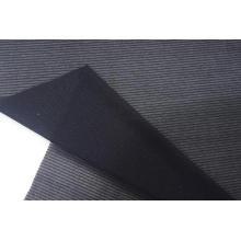 Nylon Metallic Spandex Black Stripe Mesh Fabric