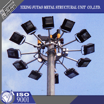 high mast lamp steel pole