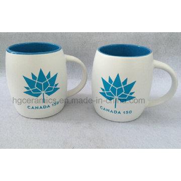 Tasse en céramique sablée avec couleur remplie