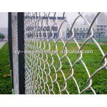 Valla de enlace de cadena revestida de PVC galvanizado