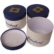 Cylinder Paper Box, Circular Gift Box, Round Earmuff Box (HBBO-15)