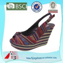 [Hot Sale] мода новый дизайн высокой пятки дамы сандалии обувь