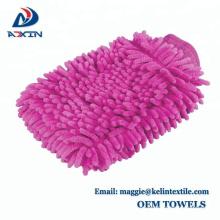 Preiswerter Großhandelsauto-Wäsche-Handschuh Chenille, der Microfiber-Handschuh-saugfähigen Autowaschstoff made Made in China säubert