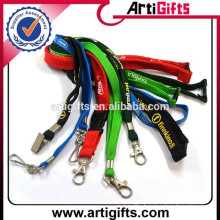 Promotion cheap high quality polyester tube lanyard