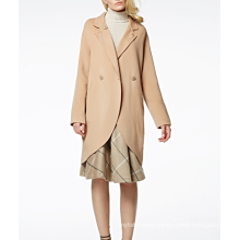 17PKCSC001 women double layer 100% cashmere wool coat