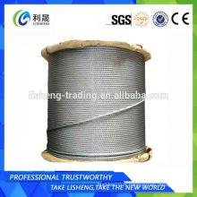 Câble de fil d'acier non rotatif 19x7 Fabricant