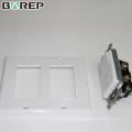 Couvercle de commutateur de lumière blanche GFCI de matériel électrique de salon