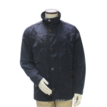 Мужские длинные зимние стенд воротник пальто темно-синий Бурелом Открытый костюм куртка