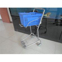 Supermarkt-Korb-Laufkatzen-Plastikkorb-Wagen