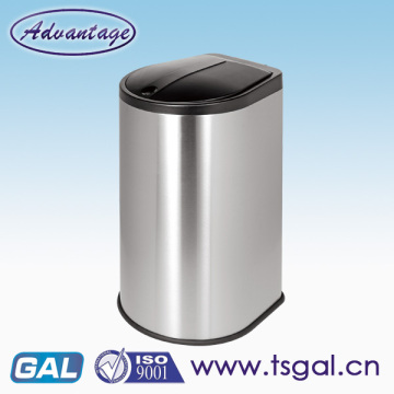 Hand Press Type Dustbin Stainless Steel