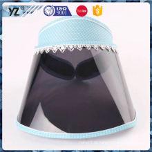Fabrik populäre spezielle Entwurf preiswerte Plastikvisierkappe für Großverkauf