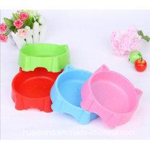 Gato cara forma sibgle pet bowl, productos para mascotas
