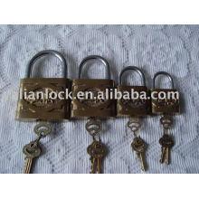 Globo, marca, ferro fundido, cadeado