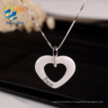 Cheap New Design Personalized Costume Porcelain Heart Remembrance Silver Necklace Jewelry