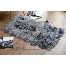 Mongolian Sheep Skin Fur Blanket