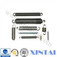 Cylindrically Coiled Extension Spring With Black Coating