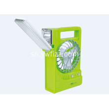 Plastic Outdoor Emergency LED USB Solar Fan Lamp