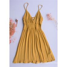 Yellow Bra Strapless Skirt