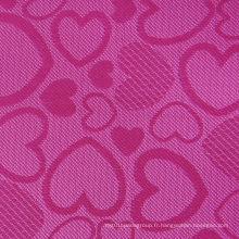 Tissu en polyester jacquard en mousse