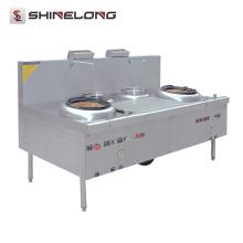 K400 Equipamentos de cozinha Caldeiras e 2 queimadores Gás Wok Range