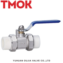 Brass nickle plated square PPR active joint ball valve