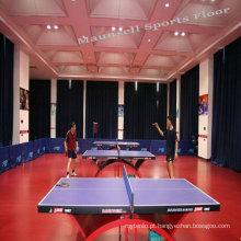 Pavimento em PVC para tênis de mesa