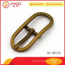 Nickle Free accessoires en métal carré anti-laiton boucle réglable pour sac