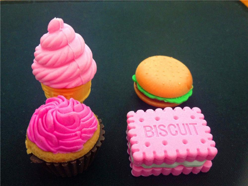 Cute Food Rubber Erasers 1