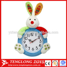 OEM Customized plush clock cover plush animal clock cover rabbit shaped plush cover
