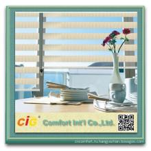 Высокое качество горизонтальных Sheer козырек от солнца ткань занавеса тройной чистой ткани тени
