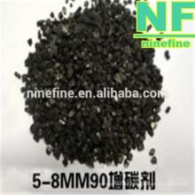 recarburizer ash matter