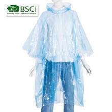 one-time usado PE poncho de chuva de plástico