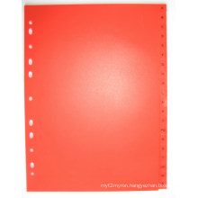 20 Pages Red Color PP Index Divider With English Printed (BJ-9028)