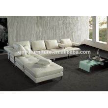 Blanco cómodo salón sofá sofá de la esquina KW359