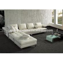 Canapé d'angle canapé confortable en bois blanc KW359