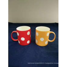 Big DOT Decal New Bone China Coffee Mug