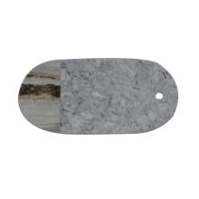Bandeja de quesos para servir de mármol blanco Bianco Carrara