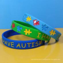 Autism silicon wristband, I Have Autism silicon bracelet, Customized logo rubber bracelet