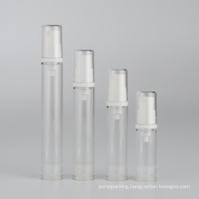 5ml 10ml 15ml 20ml low MOQ clear plastic airless perfume bottle with white mist pump in stock transparent lotion bottle