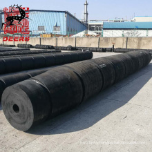 High quality hollow cylinder rubber fender fixed on tugboat