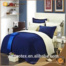 Venta al por mayor barata 70-120GSM cepillado tela del rey del color sólido de la tela del dormitorio fija la venta