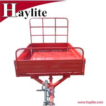 8x5 powder coated dump utility farm trailer for sales