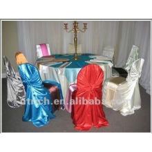 Hot venda soberba cetim saco tampa da cadeira, Universal/auto-tie tampa da cadeira, 2015 tampa da cadeira do hotel/banquete