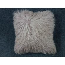 Funda de almohada de piel de cordero mongol