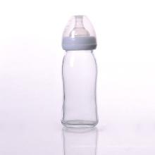 Biberon en verre sans BPA avec tétine en silicone